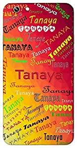 Tanaya (Daughter) Name & Sign Printed All over customize & Personalized!! Protective back cover for your Smart Phone : Samsung Galaxy A-3