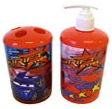 Disney Pixar 2pc Toothbrush Holder and Soap Dispenser Cars Bath Set - Cars Toothbrush Holder - Cars Soap Pump