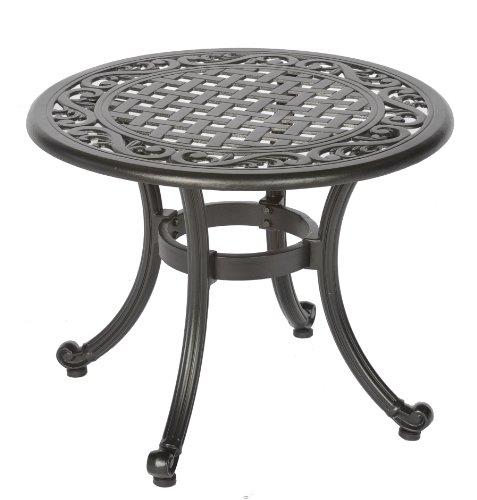 Meadow Decor 2619-45 Kingston Side Table, Black (Cast Aluminum Patio Table compare prices)