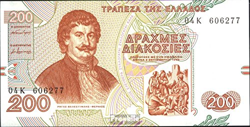 banknotes-for-collectors-greece-pick-number-204a-bankfrisch-1996-200-drachmaes