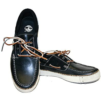 Timberland Men Shoes Boat Shoes 86524 Jardims Boat Black Leather