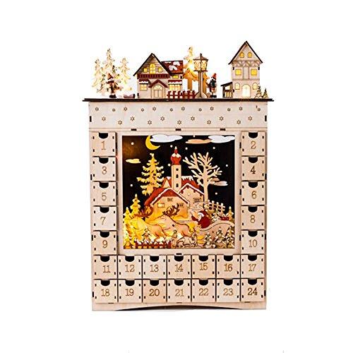 [해외]하나의 백 80도 바이에른 장면 조명 강림절 달력/One Hundred 80 Degrees Bavarian Scene Lighted Advent Calendar