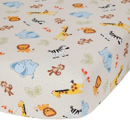Jungle Crib Bedding 5128 back
