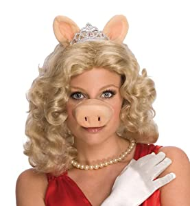 Rubie's Costume Co Women's The Muppets Adult Miss Piggy Wig, Yellow, One Size