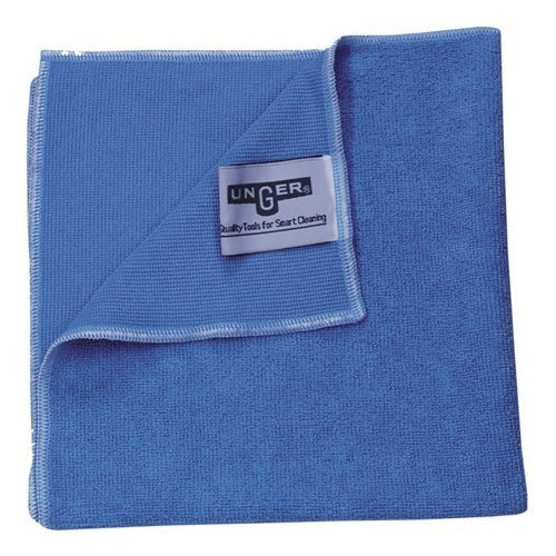 "Unger Mf400 Smartcolor Microwipe Heavy Duty Microfiber Cloth, 16"" Length X 15"" Width, Green (Case Of 10) front-261039"