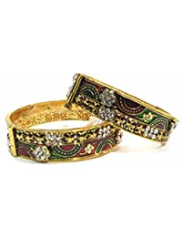 Shingar Jewellery Ksvk Jewels Antique Gold Plated Bangles Set For Women (5987-m-2.6)