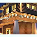 NEW Christmas 9-Piece Twinkling Clear Snowflake Icicle Lights Holiday Outdoor Decoration