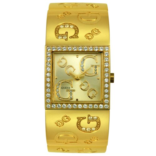 GUESS? Women's 96049L Gold-Tone Crystal Accented Watch
