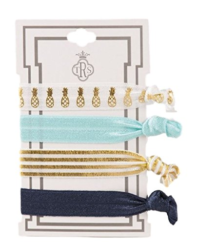 TRS Colorful Pineapple, Mint, Gold Tone Stripe and Navy Stretch Hair Ties (Lilly Bow Ties compare prices)