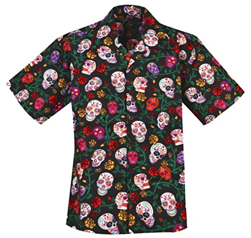 Sugar Skulls Day of the Dead Hawaiian Shirt