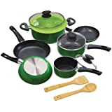 Ecolution Elements 12-Piece  Cookware Set, Green