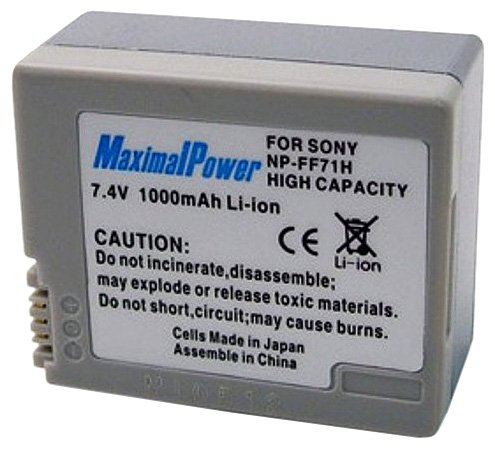 Maximal Power DB SON NP-FF70/FF71 Replacement Battery for Sony Digital Camera Camcorder (Black)