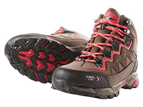 Damen Trekkingschuhe Wanderschuhe Trekking Schuhe Gr. 38 Braun/Rot Atmungsaktiv Wasserdicht