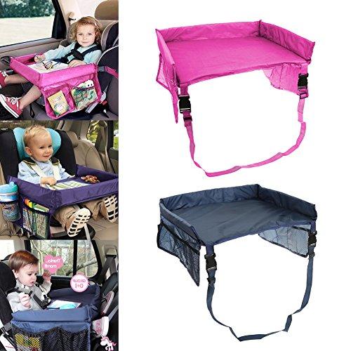 Auto-Tablett-Tisch-fr-Kinder-Wasserdicht-Verstellbar-Sicherheitsgurt-Zeichenbrett-Buggy-Travel-Kinderwagen-Kinder-Auto-Tabletts-mit-Taschen