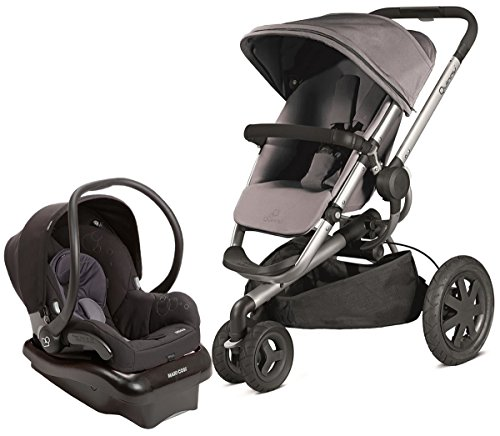 Why Choose Quinny 2013 Buzz Xtra Gracious Grey Travel System w/ Maxi Cosi Mico Car Seat, Total Black