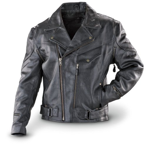 Guide Gear Leather Jacket Black by Guide Gear