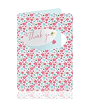 Floral Thank You Greetings Card