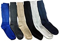 12 Pairs Men Cotton Extra Heavy Slouch Socks In Assorted Colors Size 10-13