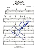 """Air Supply - Autographed """"All Out Of Love"""" Sheet Music"""