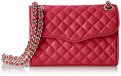 Rebecca Minkoff Mini Quilted Affair Cross Body Bag,Fuchsia,One Size