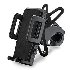 VicTsing Support Universel Vélo du Guidon Support Téléphone Rotatif à 360 Bracelet en Caoutchouc Taille Réglable Compatible avec iPhone SE 6S 6S Plus 6 5S, Galaxy S6 Edge S6 S5, GPS, Kindle, etc