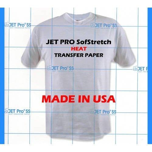 Jetpro Sofstretch Inkjet Heat Transfer Paper 8.5X11 50