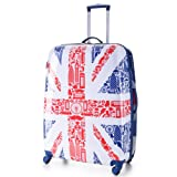 5 Cities® Lightweight Hardshell Travel Luggage Suitcase- 4 Wheel Spinner Trolley Bag 26