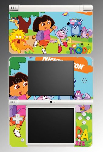 Dora the Explorer Boots Game Vinyl Decal Cover Skin Protector for Nintendo DSi XL