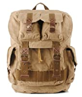 Vintage Casual Canvas Outdoor School Rucksack Backpack