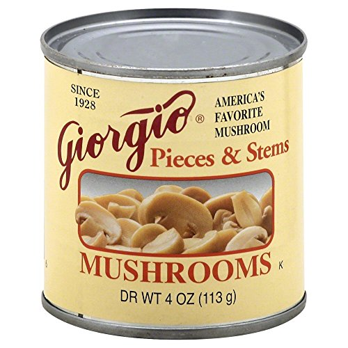 Giorgio Mushrooms Pieces and Stems, 4 Oz. Cans, (Pack of 12) (Can Mushroom compare prices)