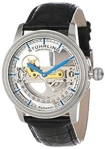 Stuhrling Original Men's 213A.331X13 Symphony Classic Limited Edition Saturnalia Bridge Automatic Skeleton Silver Tone Watch