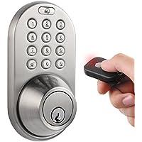 MiLocks Keyless Entry Deadbolt Door Lock (Satin Nicke)