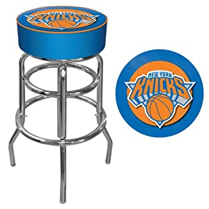 NBA New York Knicks Padded Swivel Bar Stool by Trademark Games