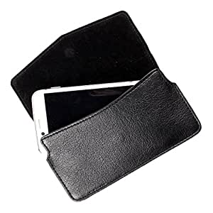 Dooda PU Leather Flip Pouch Case For Intex Aqua Power