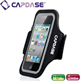 CAPDASE iPhone & iPod touch & スマートフォン対応 スポーツ アームバンド Zonic, ブラック ABIH4-1201