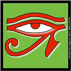 Amazon.com - EYE OF HORUS - RED/GREEN - MAGNETIC CAR DECAL SIZE 3-1/2