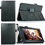 Eallc Smart Leather Stand Case Cover Holder for Acer Iconia B1-A71 (black)