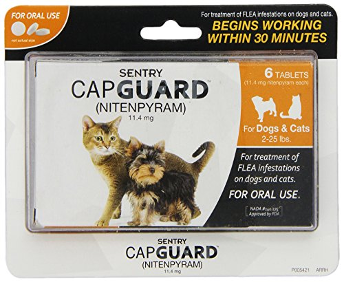 SENTRY Capguard (nitenpyram) Oral Flea Treatment Medication, 2-25 lbs, 6 count (Capstar Flea Control compare prices)