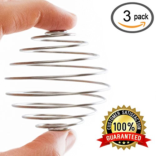Zeta Athletics – 3 Pack Stainless Steel Blender Balls For Protein Shakers – Replacement Wire Whisk for Sports Drink Bottle Mixers