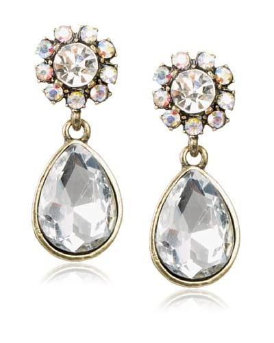 Leslie Danzis Delicate Two-Part Crystal Drop Earrings
