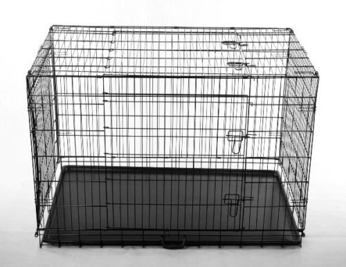 "New Pet Supply Pawhut 42""X28""X31"" Dog Cage Puppy Travel Crate W Carrying Handle front-335863"