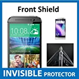 HTC One M8 Front INVISIBLE Screen Protector (Front Shield included) Military Grade Protection Exclusive to ACE CASE
