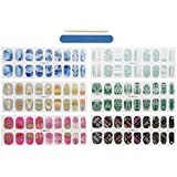 CICI&SISI Nail Art Nail Wraps 54 Creative Fashionable Nail Designs 6 Packs of Nail Stickers CSNW15-01