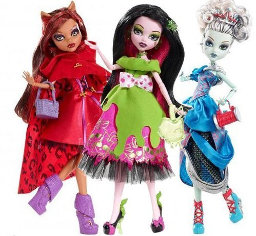[Monster High HALLOWEEN FRIGHT NIGHT COSTUME PARTY by Mattel] (Halloween Little Dead Riding Hood Costume)
