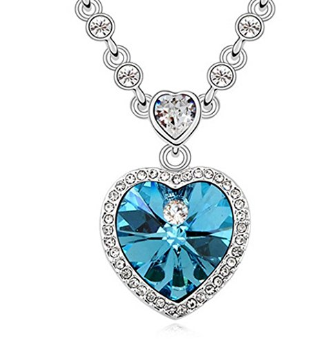 Gorgeous Jewelry Swarovski Austrian Crystal Deluxe Diamond Accented Pendant Necklace-In the Heart a Commitment