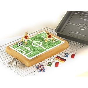 originales moldes para tartas campo de fútbol