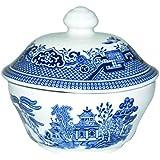 Churchill China Blue Willow Covered Sugar Bowl