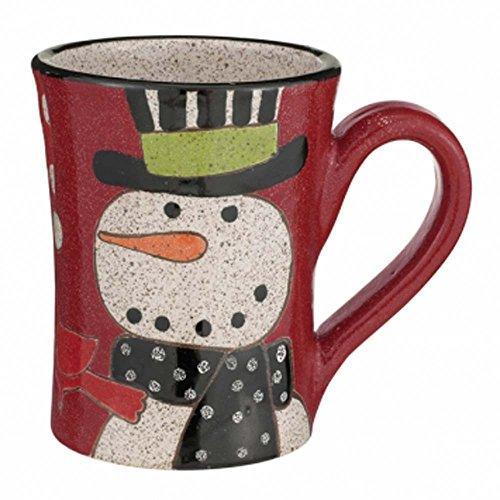 Snowman Pottery Mug By Grasslands Road