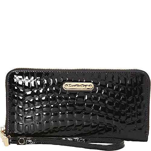 leatherbay-croco-zip-around-clutch-black
