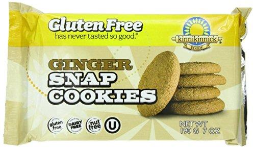 Kinnikinnick Foods Gluten-Free Cookies, Ginger Snap Cookies, 7-Ounce Bags (Pa...